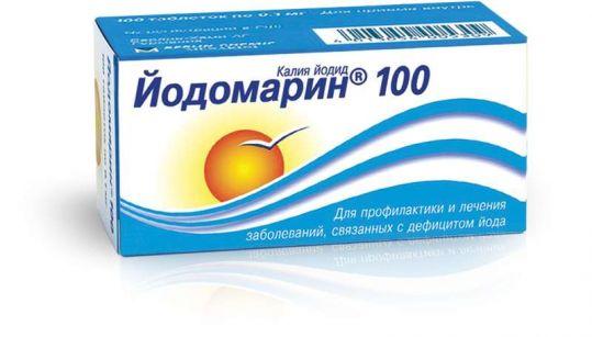 Йодомарин 100 100мкг 100 шт. таблетки, фото №1