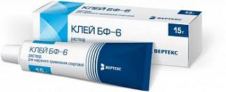 Клей бф-6 15г раствор для наружного применения спиртовой туба
