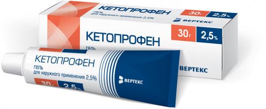 Кетопрофен 2,5% 30г гель для наружного применения, фото №1