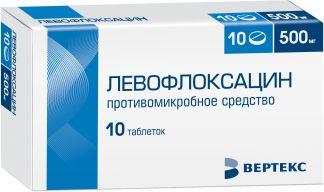 Левофлоксацин 500мг n10 таб. покрытые пленочной оболочкой