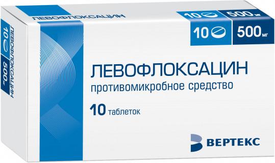 Левофлоксацин 500мг 10 шт. таблетки покрытые пленочной оболочкой, фото №1