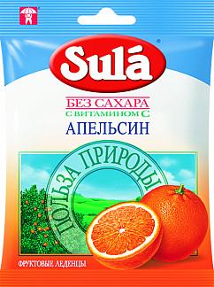 Зула леденцы апельсин 60г пак.