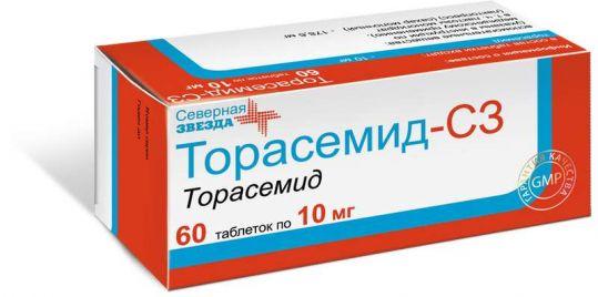 Торасемид-сз 10мг 60 шт. таблетки, фото №1