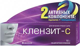 Клензит-с 1мг+10мг/г 15г гель