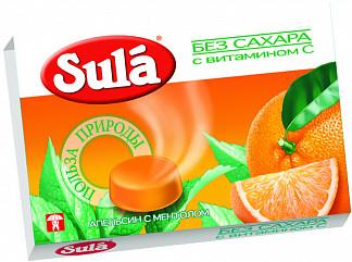 Зула леденцы б/сахара апельсин-ментол 18г