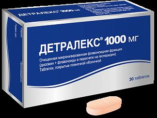 Детралекс 1000мг n30 таб. покрытые пленочной оболочкой