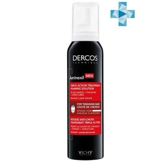 Виши деркос аминексил пена против выпадения волос для мужчин 150мл, фото №1