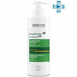 Виши деркос шампунь усиленного действия против перхоти для сухих волос/раздраженной кожи головы 390мл