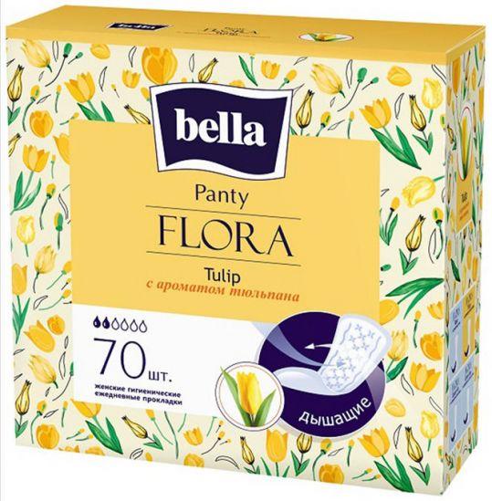 Белла панти флора прокладки ежедневные с тюльпаном 70 шт., фото №1