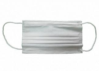 Маска медицинская трехслойная на резинке 1 шт.
