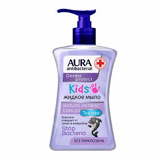 Аура антибактериал крем-мыло жидкое антибактериальное кидс 3+ 250мл