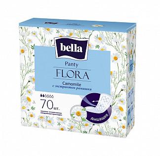 Белла панти флора прокладки ежедневные с ромашкой 70 шт.