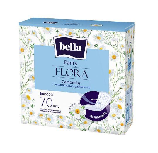 Белла панти флора прокладки ежедневные с ромашкой 70 шт., фото №1