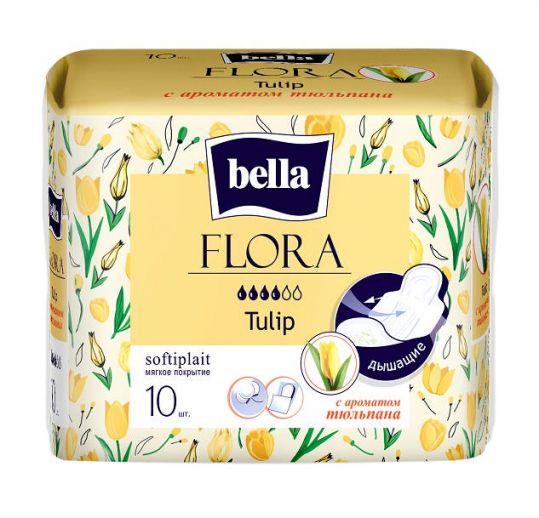 Белла флора прокладки гигиенические с ароматом тюльпаны 10 шт., фото №1
