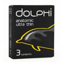Долфи презервативы латексные анатомические сверхтонкие с силиконовой смазкой 3 шт.