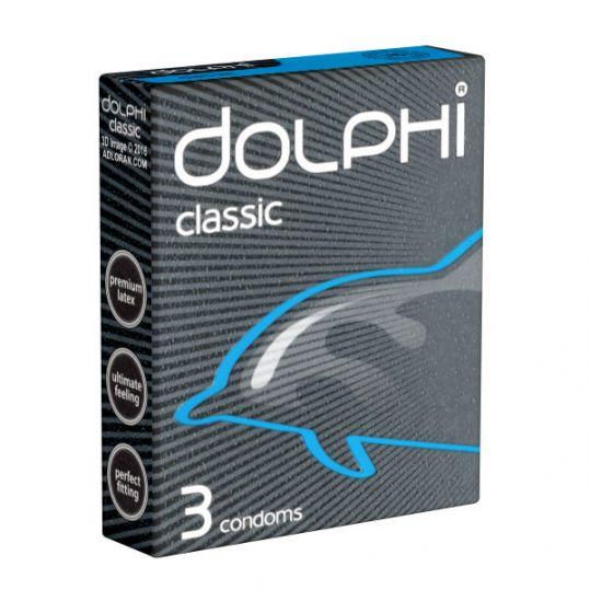 Долфи презервативы латексные классические с силиконовой смазкой 3 шт., фото №1