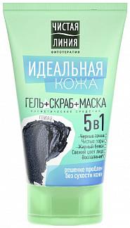 Чистая линия средство косметическое 5в1 (гель+скраб+маска) 120мл