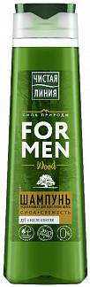 Чистая линия шампунь для мужчин укрепляющий дуб/можжевельник 400мл