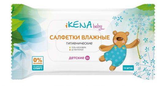 Икена салфетки влажные детские 15 шт., фото №1