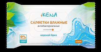 ИКЕНА салфетки влажные антибактериальные Морской бриз N15
