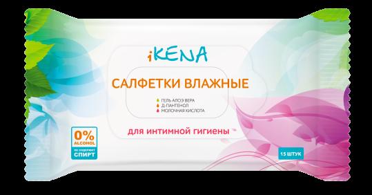 Икена салфетки влажные д/интимной гигиены с молочной кислотой n15, фото №1