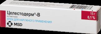 Целестодерм-в 0,1% 15г крем д/наружного применения