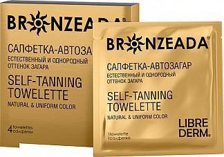 Либридерм бронзиада салфетка-автозагар 4 шт.