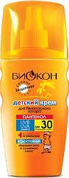 Биокон солнце крем для безопасного загара детский spf30 160мл