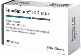 Йодбаланс 100мкг 100 шт. таблетки