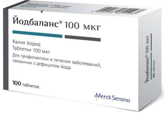 Йодбаланс 100мкг 100 шт. таблетки, фото №1
