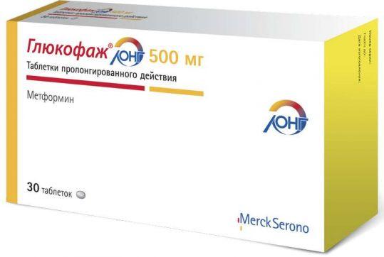 Глюкофаж лонг 500мг 30 шт. таблетки с пролонгированным высвобождением merck sante, фото №1