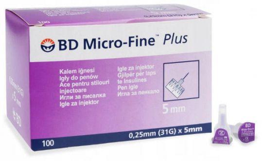 Бектон дикинсон микро-файн плюс иглы для шприц-ручки одноразовые 31g (0,25x6мм) 100 шт., фото №1