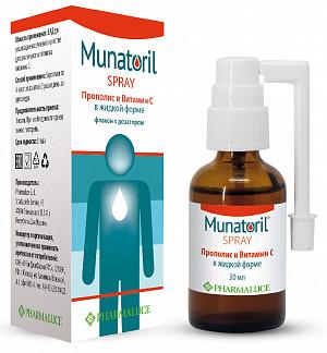 Мунаторил прополис и витамин с спрей для горла 30мл