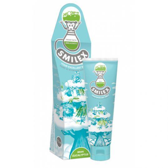 Сплат смайлекс зубная паста отважный эвкалипт 75мл, фото №1