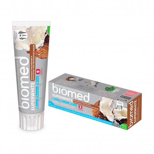 Сплат биомед зубная паста супервайт 100мл, фото №1