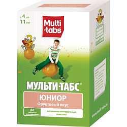 Мульти-табс юниор 60 шт. таблетки фрукты