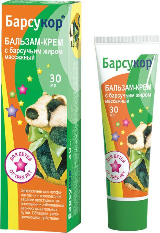 Барсукор крем-бальзам детский массажный 30мл, фото №1