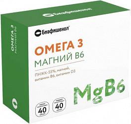 Биафишенол омега-3 магний b6 капсулы (мягкие желатиновые 0,35г n40+твердые желатиновые 0,6г n40)