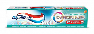 Аквафреш комплексная защита зубная паста экстра свежесть 100мл