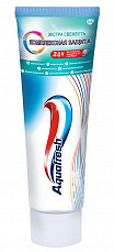 Аквафреш комплексная защита зубная паста экстра свежесть 100мл, фото №2
