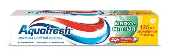 Аквафреш 3+ зубная паста мягко-мятная 125мл, фото №1