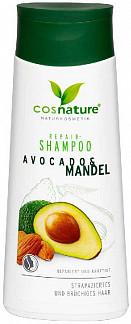 Коснэйче шампунь для волос восстанавливающий авокадо/миндаль 200мл