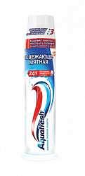 Аквафреш 3+ зубная паста освежающе-мятная 100мл помпа