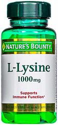 Нэйчес баунти таблетки 1000мг l-лизин 60 шт.