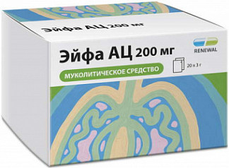 Эйфа ац 200мг 20 шт. гранулы для приготовления раствора для приема внутрь