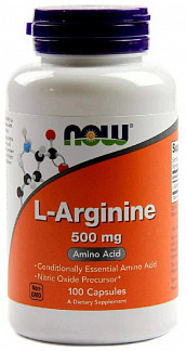 Нау фудс l-аргинин капсулы 500мг 100 шт.