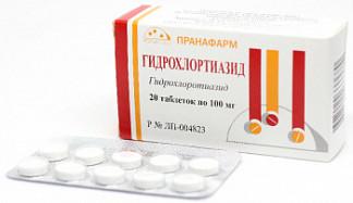 Гидрохлортиазид 100мг 20 шт. таблетки пранафарм