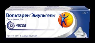 Вольтарен эмульгель 2% 100г гель д/наружного применения при боли в суставах туба с треуг.крышкой