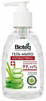 Биотек гель-мыло антибактериальное алоэ вера 300мл