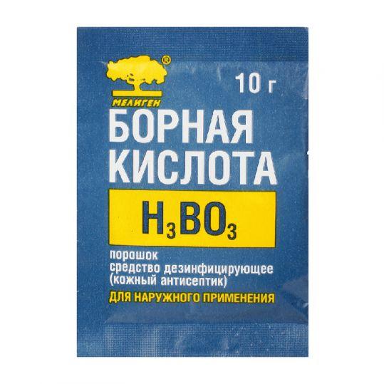 Борная кислота порошок средство чистящее по уходу за оптикой 10г, фото №1